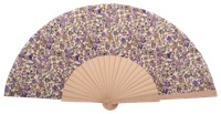 Hand painted birch wood fan 4601SUR