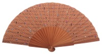 Fantasy pear wooden fan 4602SUR