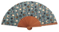Fantasy pear wooden fan 4608SUR