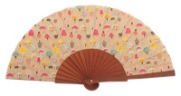 Fantasy pear wooden fan 4609SUR