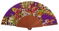 Fantasy pear wooden fan 4648SUR