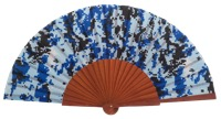Fantasy pear wooden fan 4649SUR
