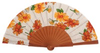 Fantasy pear wooden fan 4650SUR