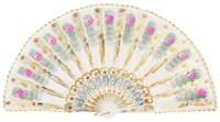 Hand painted plastic fan 484BLA