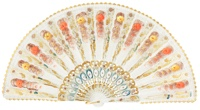Hand painted plastic fan 485BLA