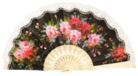 """Semi-pericon"" plastic fan with flowers 547/1MFL"
