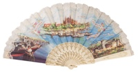 """Semi-pericon"" plastic fan for souvenir 549/1MFL"