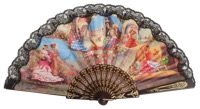 """Semi-pericon"" plastic fan with folklore 582/1NEG"