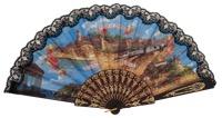 """""""Semi-pericon"""" plastic fan for souvenir 782/4NEG"""