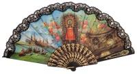 """""""Semi-pericon"""" plastic fan for souvenir 923/4NEG"""