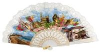 Plastic fan souvenir collections 988BLA
