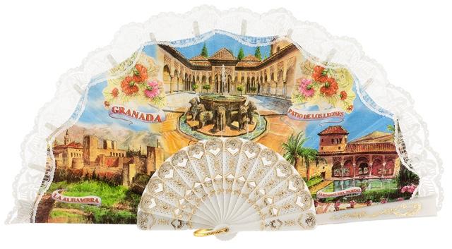 Abanico plástico Granada 1016BLA