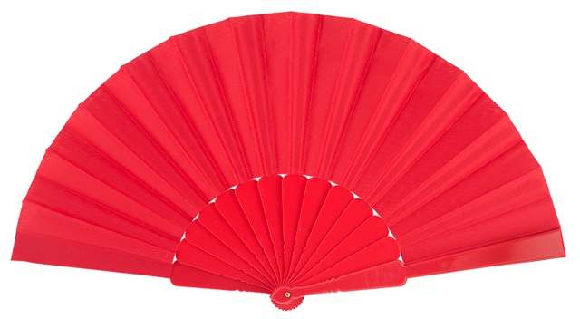 Plastic fan in colors 11ROJ