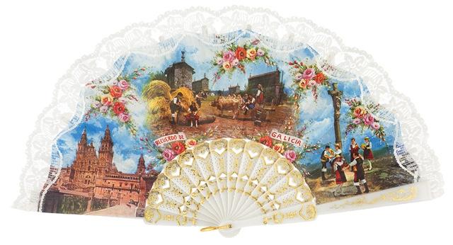Plastic fan souvenir collections 145BLA