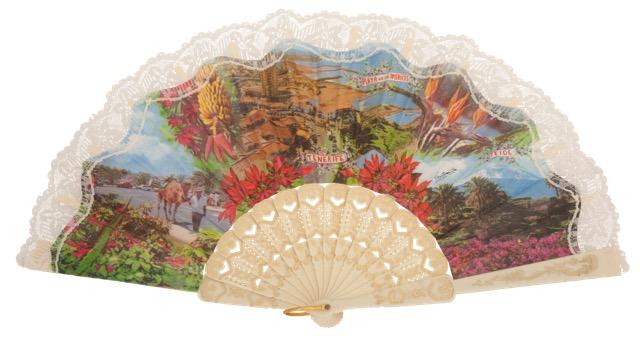Abanico plástico colección souvenir 151MFL