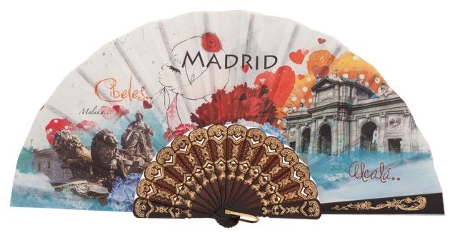 Abanico plástico Madrid 259/1NEG