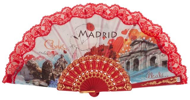 Abanico plástico Madrid 259ROJ