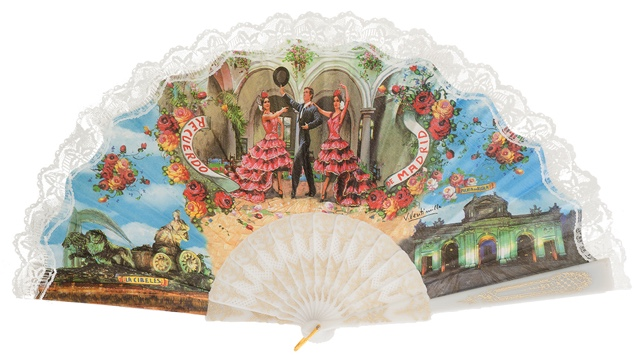 """Semi-pericon"" plastic fan for souvenir 260/4BLA"