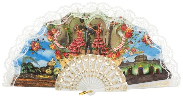 Plastic fan souvenir collections 260BLA
