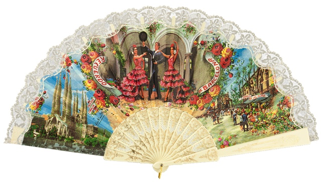 """Semi-pericon"" plastic fan for souvenir 261/4MFL"