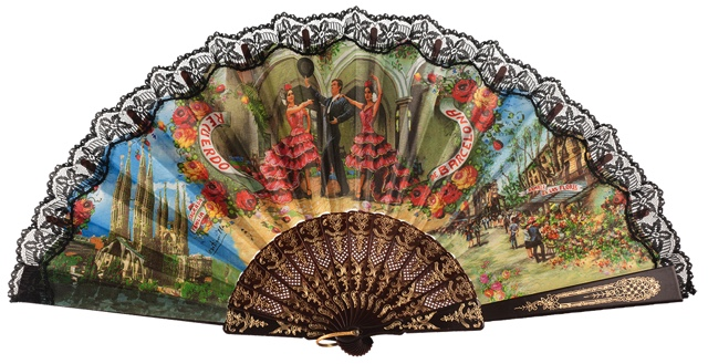 """Semi-pericon"" plastic fan for souvenir 261/4NEG"