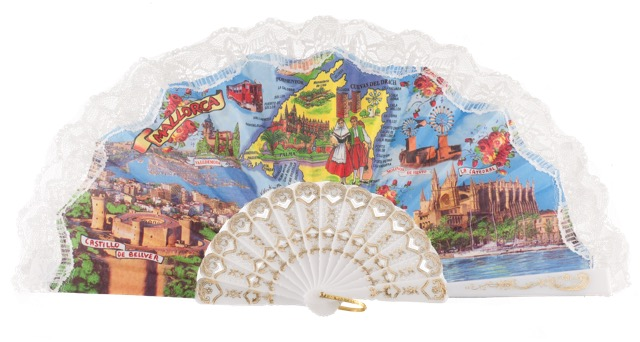 Plastic fan souvenir collections 262BLA