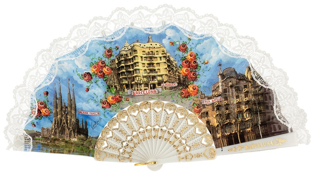 Plastic fan souvenir collections 263BLA