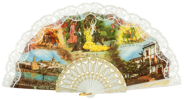 Plastic fan souvenir collections 272BLA