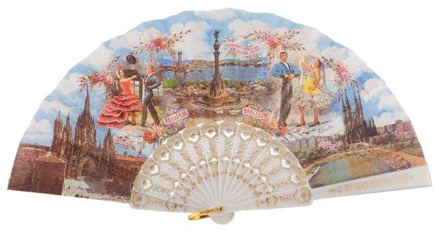 Plastic fan souvenir collections 273/1BLA