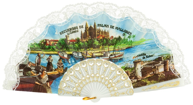 Plastic fan souvenir collections 274BLA