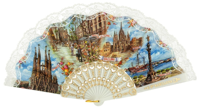 Plastic fan souvenir collections 275/3BLA