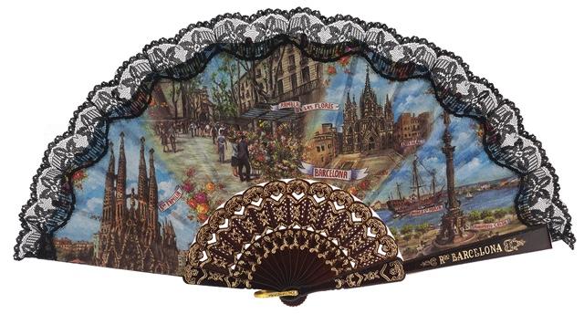 Plastic fan souvenir collections 275/3NEG