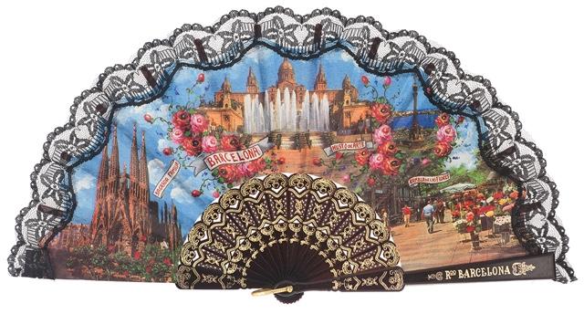 Plastic fan souvenir collections 275/7NEG