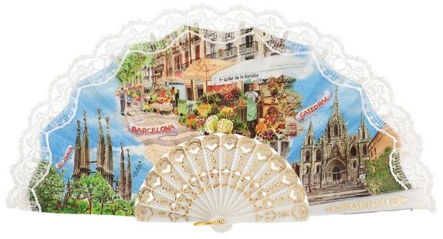 Plastic fan souvenir collections 275/8BLA