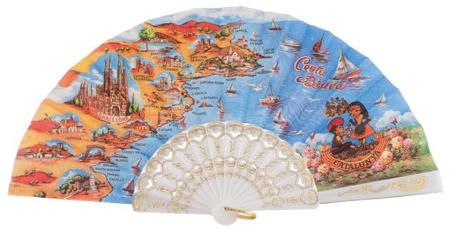 Plastic fan souvenir collections 283/1BLA