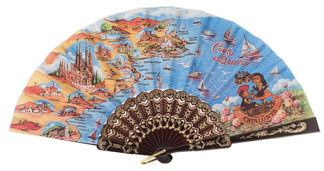 Plastic fan souvenir collections 283/1NEG