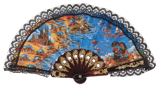 """Mini"" plastic fan for souvenir 283/2SUR"