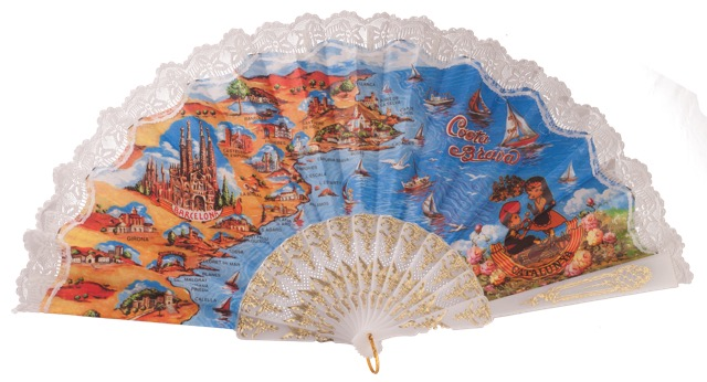 """Semi-pericon"" plastic fan for souvenir 283/4BLA"