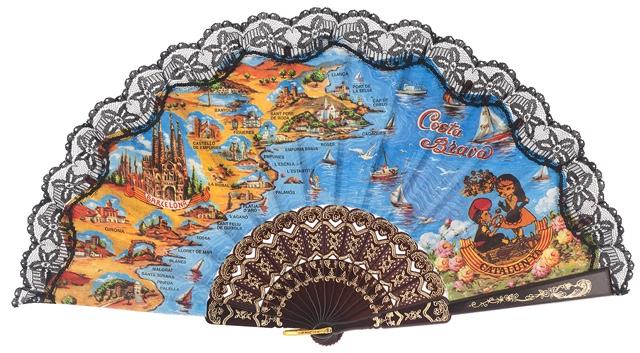 Plastic fan souvenir collections 283NEG