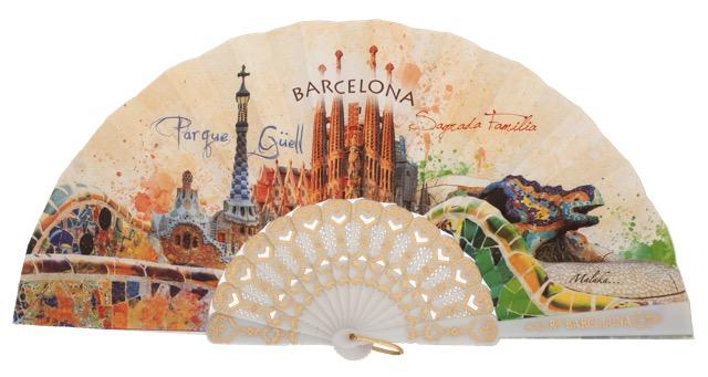 Abanico plástico Barcelona 296/1BLA