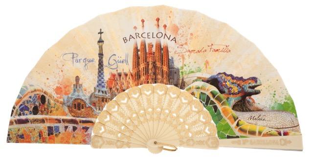 Abanico plástico Barcelona 296/1MFL