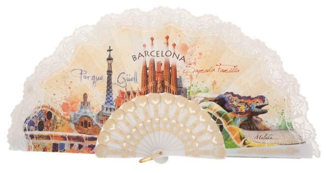 Plastic fan souvenir collections 296BLA