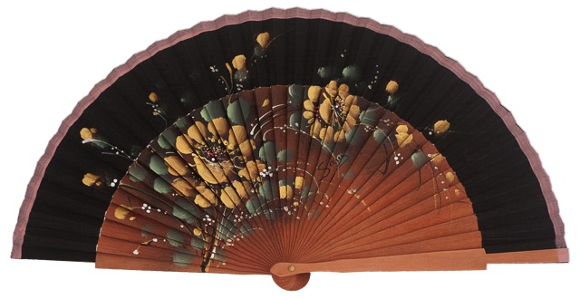 Fantasy pear wooden fan 3011ORO