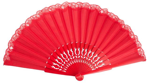 """pericon"" wooden fan 3037ROJ"