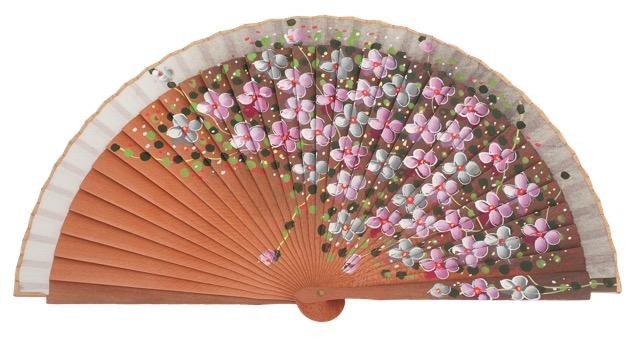 Fantasy pear wooden fan 3101BLA
