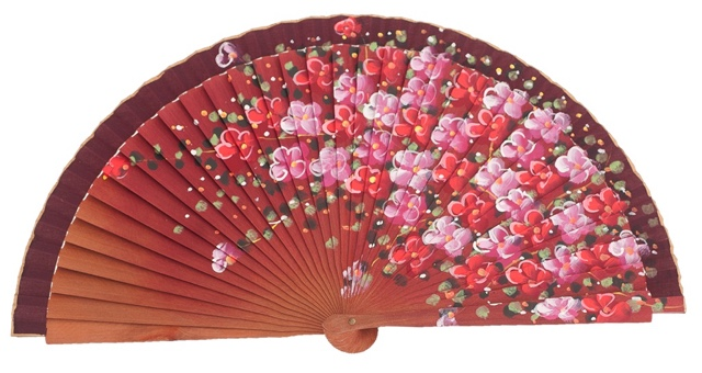 Fantasy pear wooden fan 3101GRA