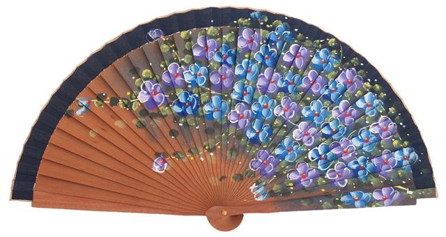 Abanico madera peral flores 3101MAR
