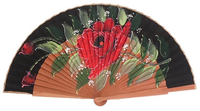 Fantasy pear wooden fan 3103NEG