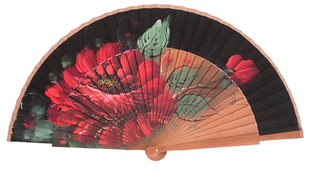 Fantasy pear wooden fan 3117NEG