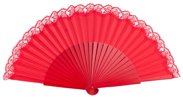 """Semi-pericon"" wooden fan 3136ROJ"
